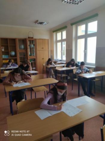 Uczestnicy konkursu Kangur Matematyczny