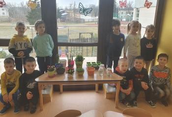 Dzieci z grupy V założyły w sali zielony kącik